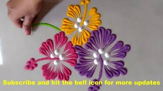Easy and Quick Rangoli Design for everyday || Daily Rangoli