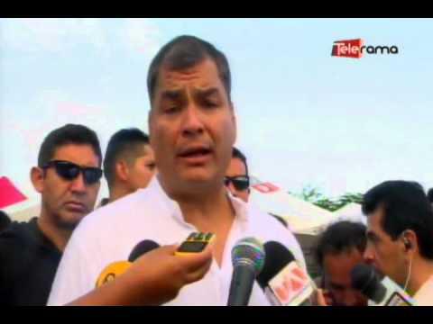 Presidente Correa recorrió Pedernales y Portoviejo
