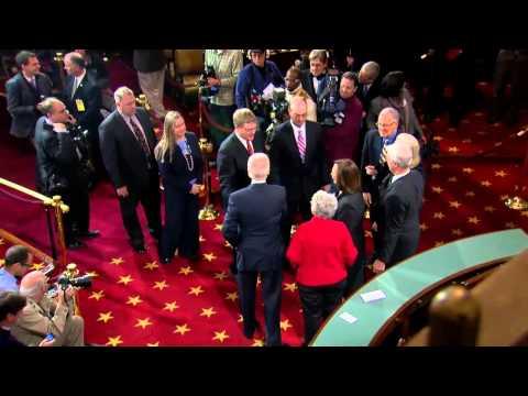 Swearing In Reenactment of Senator Fischer 1/3/13
