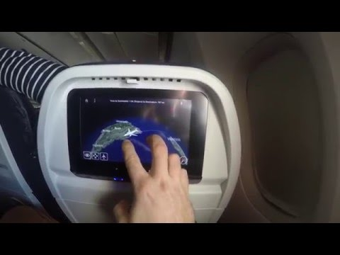Boeing 777-200 ER map Air France Paris- Sao Paulo ,  Brasil 4k gopro 4