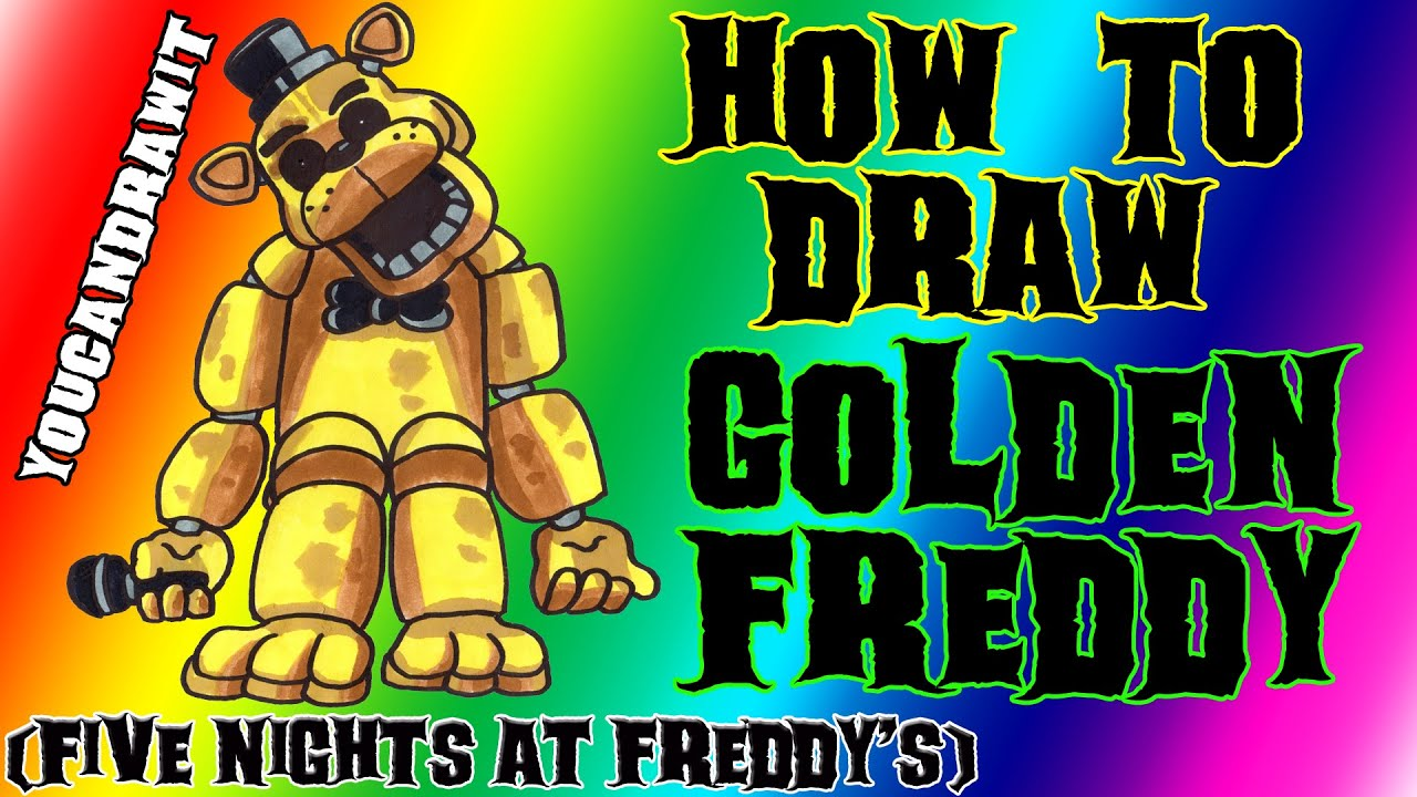 how to draw golden freddy from five nights at freddy u0026 39 s