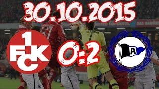1. FC Kaiserslautern 0:2 Arminia Bielefeld - 30.10.2015 - Und wieder verloren...