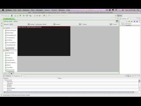 Developing Android Applications with Java, Part 1 - In Partnership with O'Reilly: Eclipse and SDK se