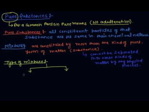 What is Pure Substance and Mixture | Class 9 Chemistry Is Matter Around Us Pure
