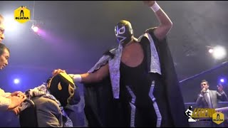 Dr. Wagner Jr. y Máscara Sagrada vs Blue Demon Jr. y Rayo de Jalisco Jr., Homenaje a Pierroth