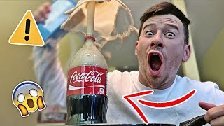 5 CRAZY COKE SCIENCE EXPERIMENTS!! (MASSIVE EXPLOSION)