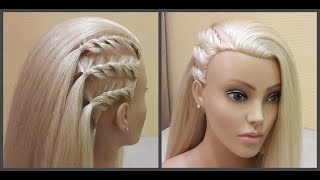 Креативная прическа!💥Удобно сделать самой себе!👍Easy hairstyle. Easy to make by yourself