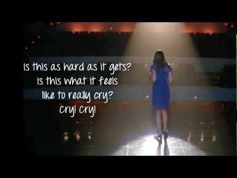 Glee - Cry (Lyrics)