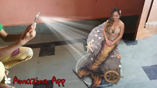 Amazing 3d Hot girl/Jalpari in realty   best camera fun app for android   Like holographic effects