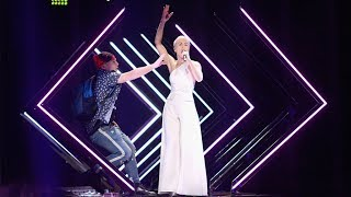 Eurovision 2018: Stage invader crashes SuRie's performance