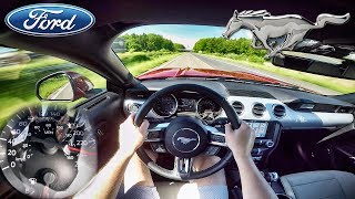 Ford Mustang EcoBoost AUTOBAHN POV Acceleration & TOP SPEED by AutoTopNL