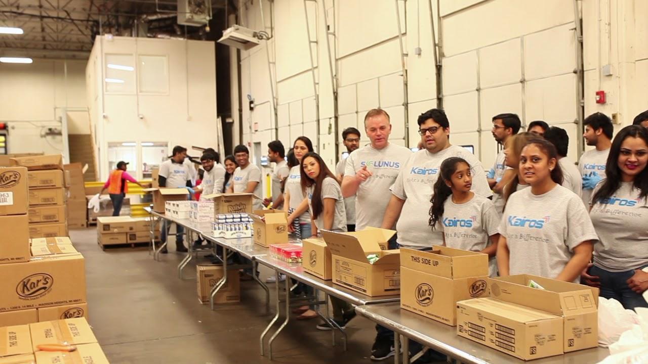 Kairos Technologies Inc. Employees volunteering for North Texas Food Bank (NTFD) || Sudhakar Pennam