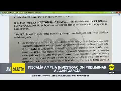 El fiscal José Domingo Pérez amplió la investigación preliminar a Alan García
