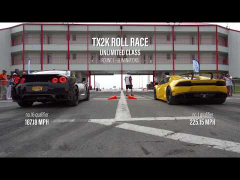 HWY KNG -- Alpha 12x GT-R at TX2K / Roll Race UGR Lambo / 8.18 ET / Built by Induction Performance