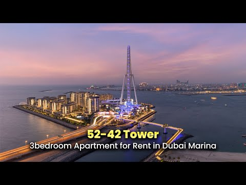 3 bedroom Apartment for Rent in Dubai Marina, 52|42 Tower, AQ-R-21-00995