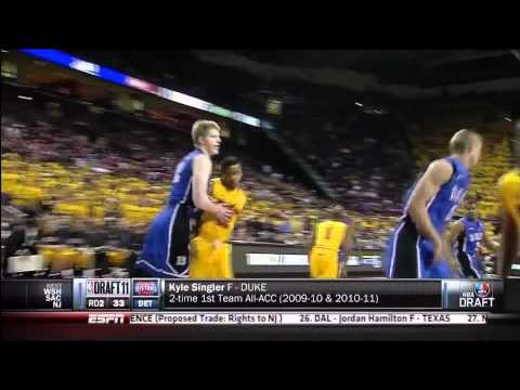 Detroit Pistons Draft Kyle Singler With the 33rd Pick (2011 NBA Draft)