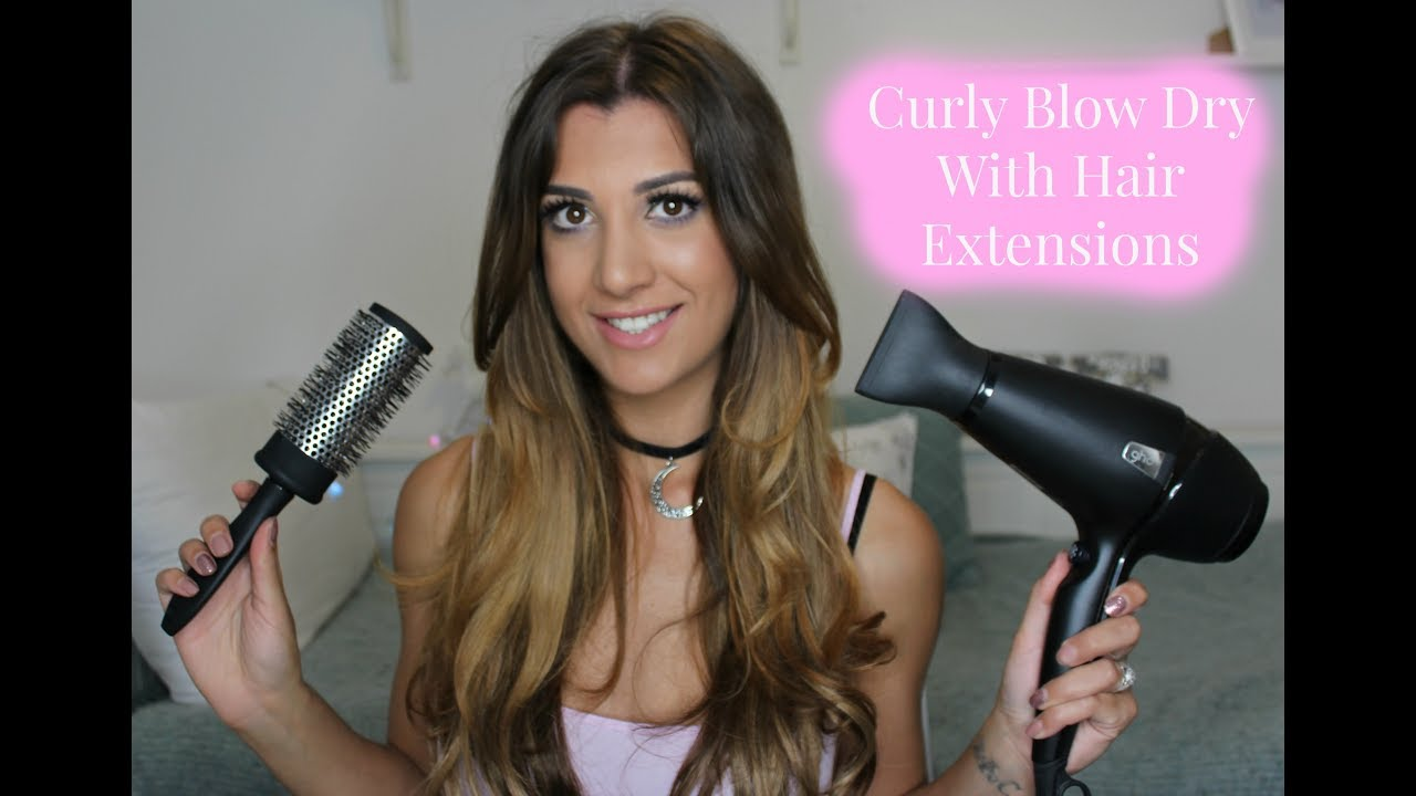 Curlybouncy Blow Dry Routine With Micro Ring Hair Extensions
