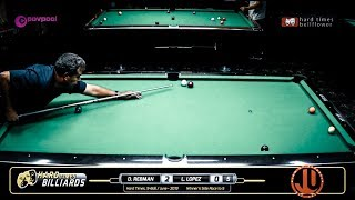 #6 - Luis LOPEZ vs Edgie GERONIMO / Hard Times 9-Ball Monthly / JUNE 2019
