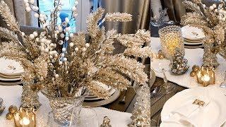 Home decor 2018   Glam Christmas Tablescape