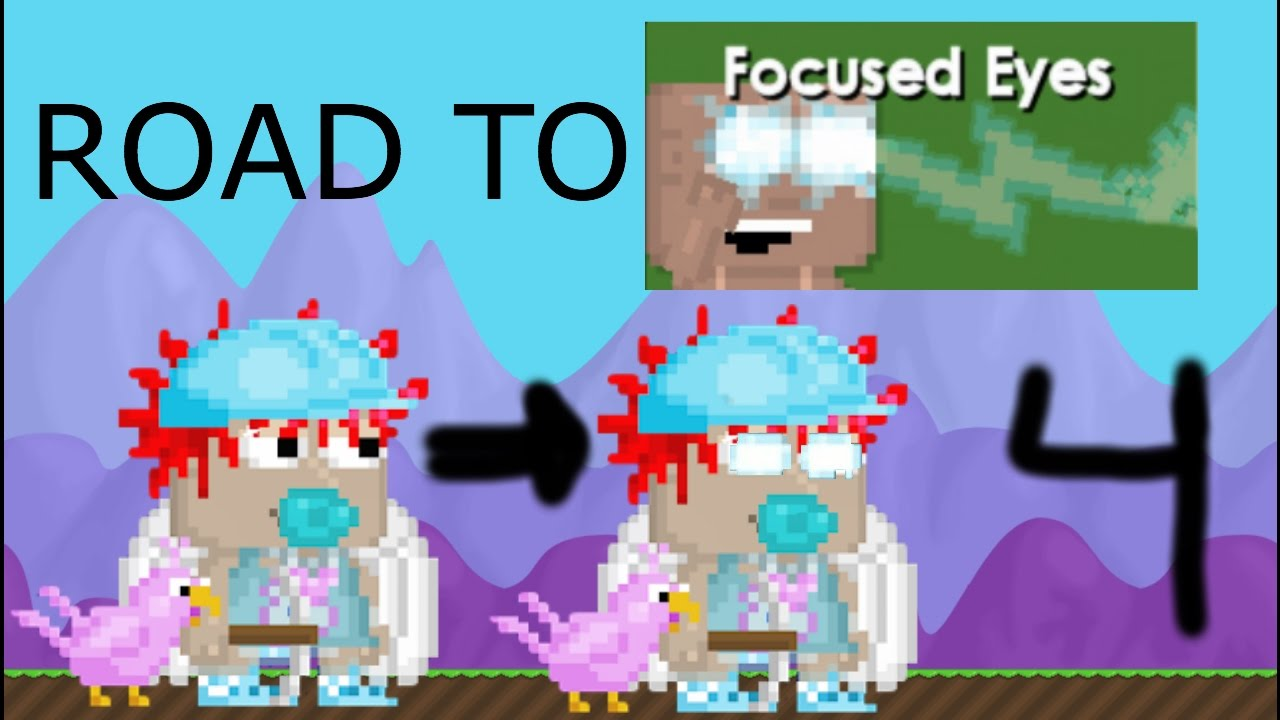 Growtopia | Road To Focused Eyes #4 | 98 TOKENS | - YouTube