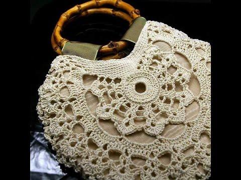 b62b9201d0f36 شنط كروشيه للبنات 2016 crochet bags - YouTube