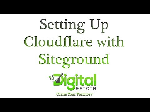 6.  Setting Up Cloudflare with Siteground