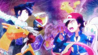 【MAD】Pokemon XYZ - Ash vs Alain - Kalos League - Full Battle