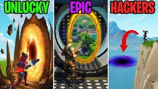 NEW Secret Portals in Wailing Woods! UNLUCKY vs EPIC vs HACKERS - Fortnite Funny Moments