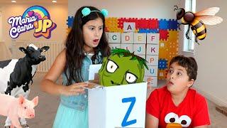 Maria Clara e JP aprendem o alfabeto em Inglês ❤️Maria Clara and JP learn the English alphabet