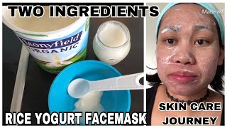 MURANG FACEMASK REMEDY |RICE YOGURT FACEMASK |TWO INGREDIENTS NATURAL REMEDY|PAANO GUMAWA NGFACEMASK