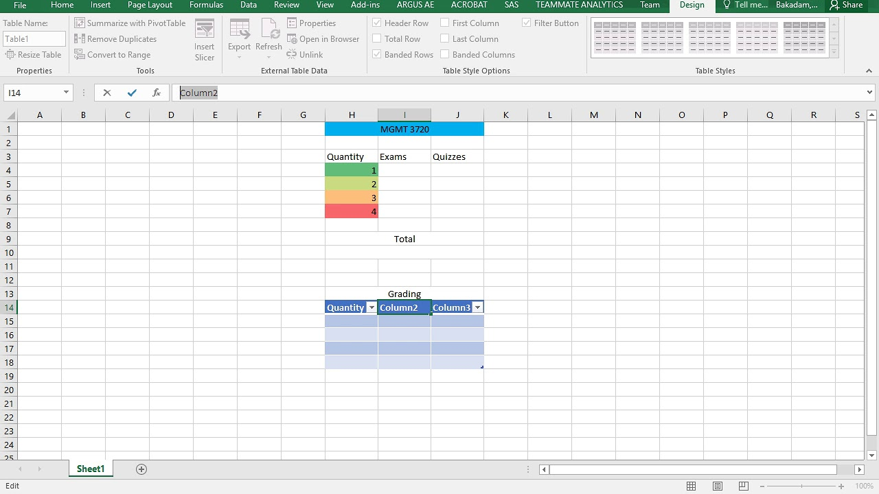 How To Create Grading Calculator Using Excel