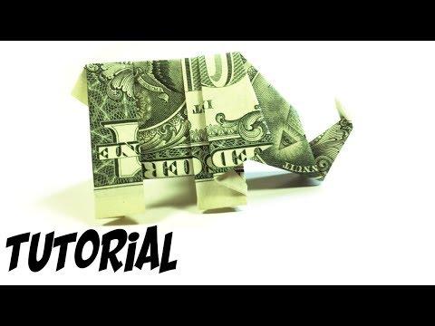 Origami $1 Elephant Tutorial (Traditional)