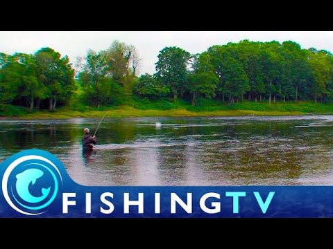 Salmon Fishing On The River Tay In Scotland