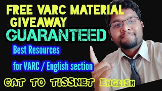 Sure Shot 4 Things to CRACK VARC (Verbal/English) section || FREE CAT MATERIAL Announcement!