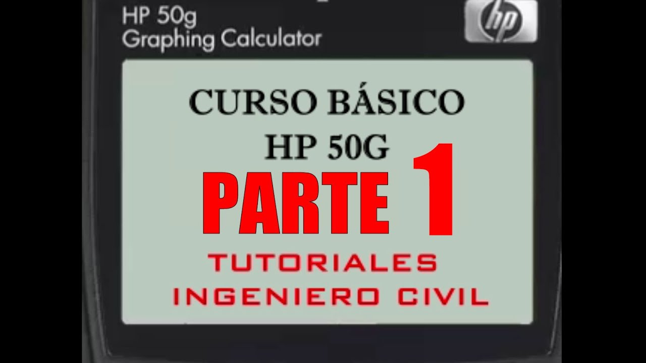 HP 50G Basic Course Part 1: Configure the calculator