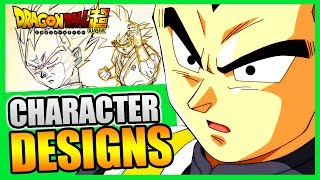LES CHARACTER DESIGNS DE DRAGON BALL SUPER - DBMUSEUM #1