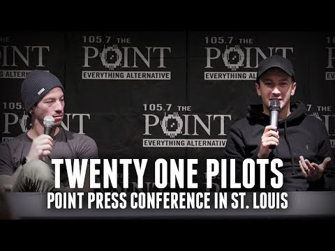 Twenty One Pilots on adding members, strange fears - Point Press Conference