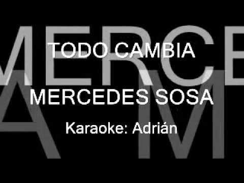 Todo cambia MERCEDES SOSA Karaoke