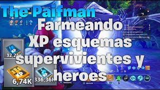 🔴 FARMEANING XP from Surviving Schemes and Hero with Subs[FORTNITE Save the World]-THE PAIFMAN-🔴