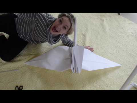 DIY Giant Origami Paper Crane Tutorial - Perfect for Photography Props