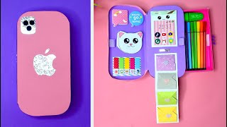 how to make а pencil box form  cardboard // diy Iphone 12 Pro Max Notebook Organizer