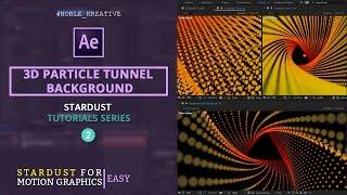 3D-Partikel-Tunnel Hintergrund in AE | Leicht