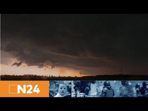 N24 Nachrichten - Heftige Unwetter in Norddeutschland: Bahn stellt Zugverkehr ein