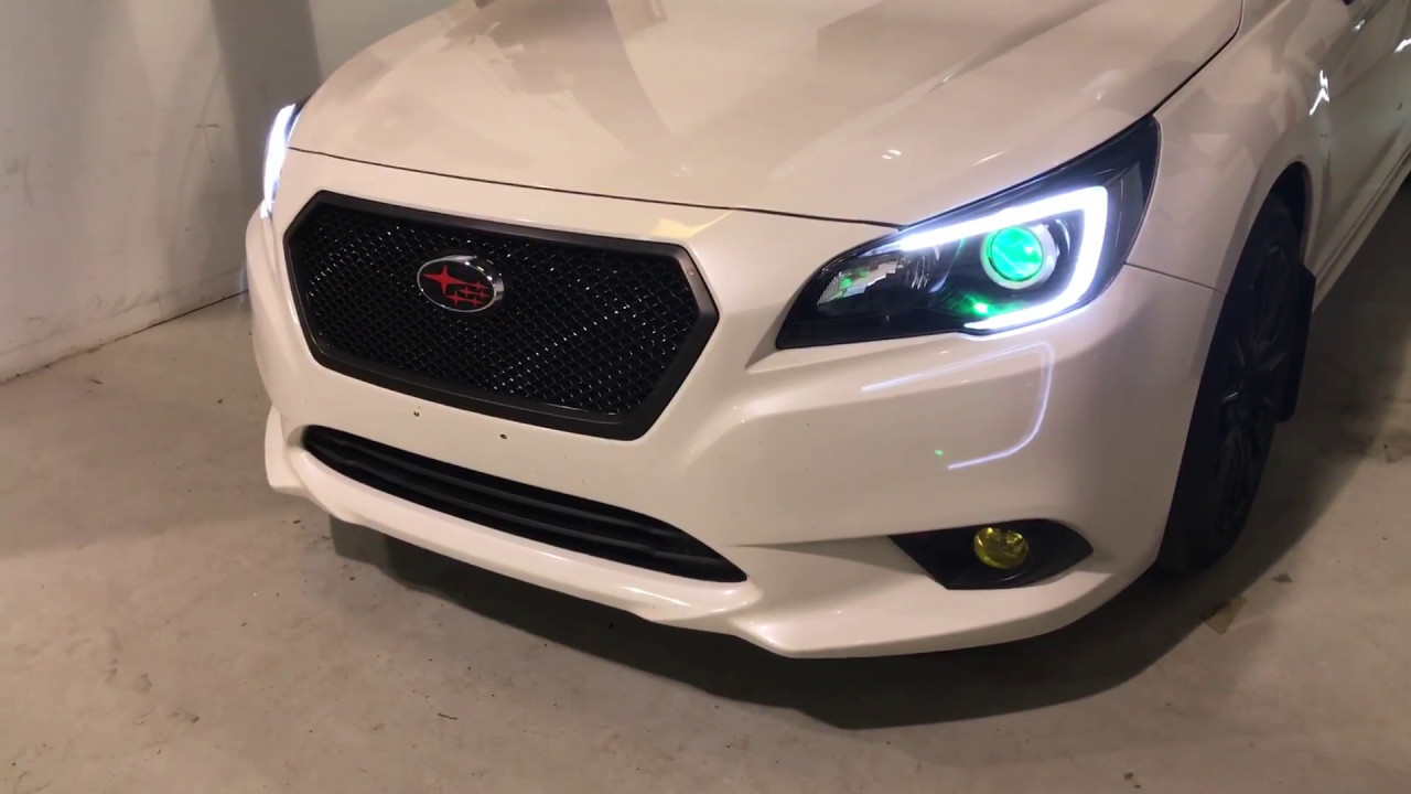 subaru legacy custom paint diode dynamics demon eyes c light led upgrade youtube. Black Bedroom Furniture Sets. Home Design Ideas