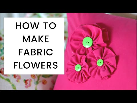 How To Make Fabric Flowers Youtube