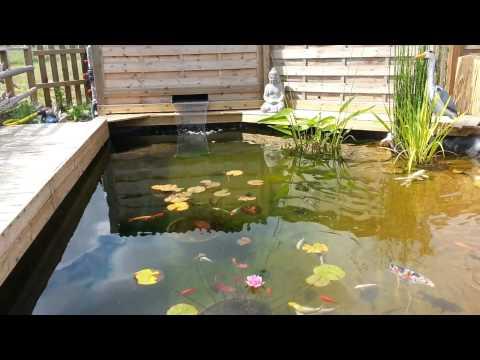 bassin lame d 39 eau filtration 2 cuves 300 l youtube. Black Bedroom Furniture Sets. Home Design Ideas