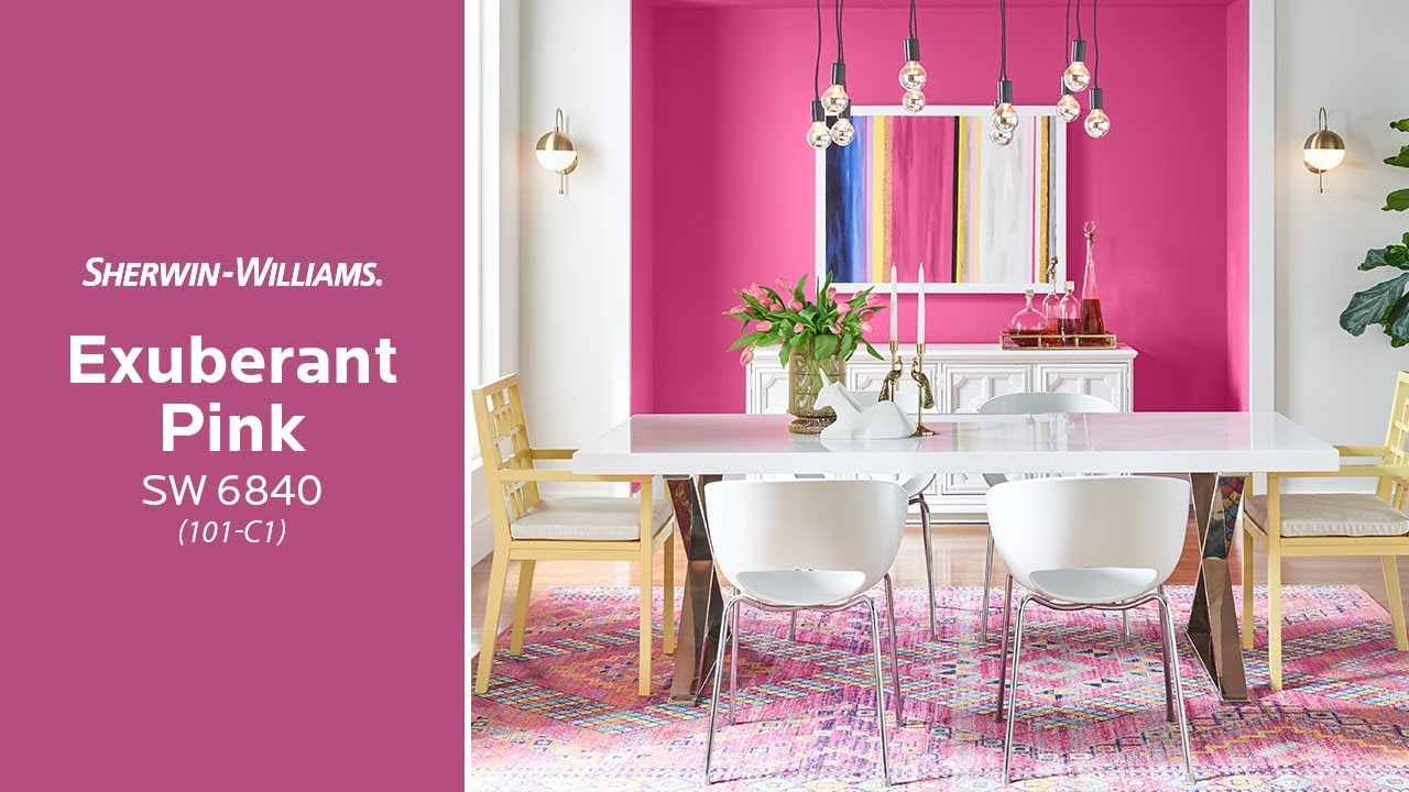May 2018 Color of the Month: Exuberant Pink - Sherwin-Williams - YouTube