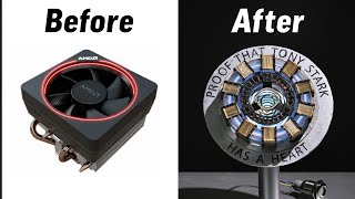 Making the Arc Reactor out of a CPU Fan
