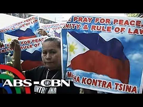 TV Patrol: Mga Pinoy, Vietnamese, nagprotesta sa labas ng Chinese embassy