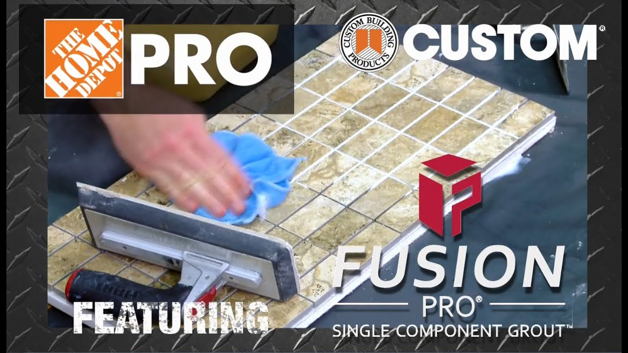 Fusion Pro Single Component Grout The Home Depot
